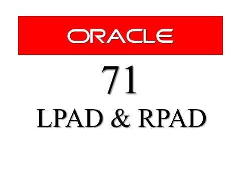SQL tutorial 71: LPAD and RPAD SQL Function By Manish Sharma RebellionRider