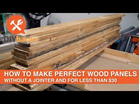 How to make perfect wood panels without a jointer for less than $30