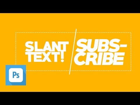QUICK TIPS ~ How to make a Slant Text in Photoshop