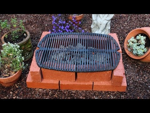 How to Make a Brick Grill - DIY Temporary Brick Hibachi Grill
