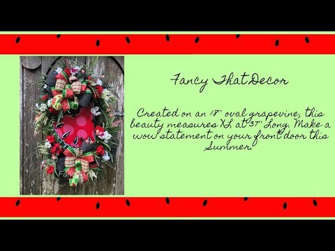 2018 Watermelon Wreaths by Fancy That Decor