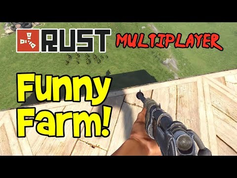 Funny Farm! RUST Gameplay Ep 1-10 Multiplayer Coop (Funny Moments)