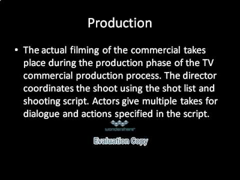 The Television Commercial Production Process