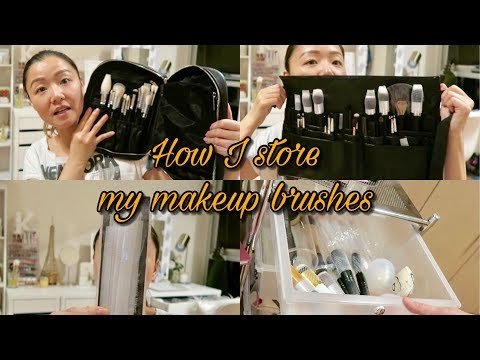 How I Store My Makeup Brushes | KristinaCC