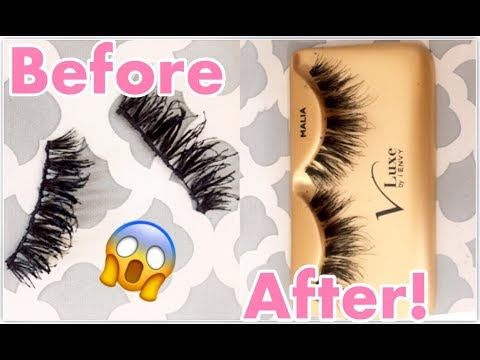 HOW TO CLEAN FALSE EYELASHES | Tayo Arts