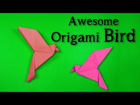 How to Make a Paper Bird that Can Fly Easy ! Make a Origami Bird
