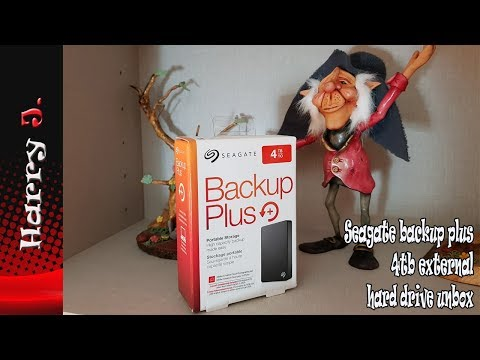 Seagate backup plus 4tb external hard drive unbox