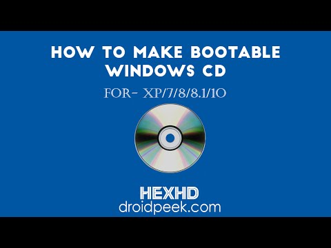 How To Make Windows Bootable CD Of Any Version XP/7/8/8.1/10  [2015]