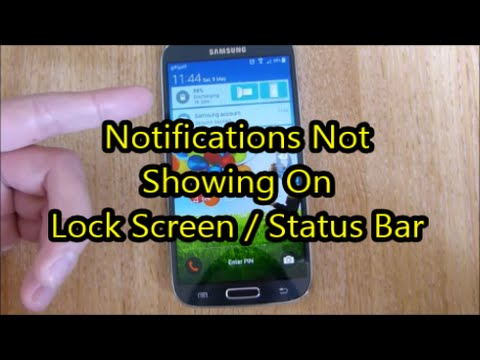 Show Notifications Lock Screen Status Bar Android Lollipop