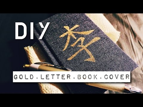 Gold Lettering Book Cover | RayDIY
