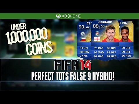 FIFA 14   PERFECT TOTS FALSE 9 HYBRID!   1 MILLION COINS   Squad Builder #77
