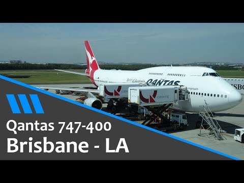 Qantas 747 - Brisbane to Los Angeles - Economy Flight Review