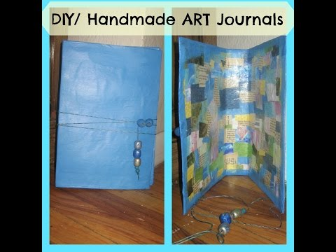 How to make a DIY/ Handmade art journal From Recycled cereal boxes -Mixed Media - Smash Book -Part 1