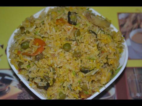 Indian Muslim STYLE VEGETABLE BIRYANI Prepared Restaurant & STREET FOOD