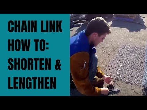 Chain Link Fence How-To: Shorten & Length Rolls (removing needles)