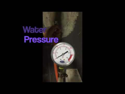 Checking of Water Pressure at home