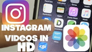 How to get videos into iPhone camera roll - Upload to Instagram in HD