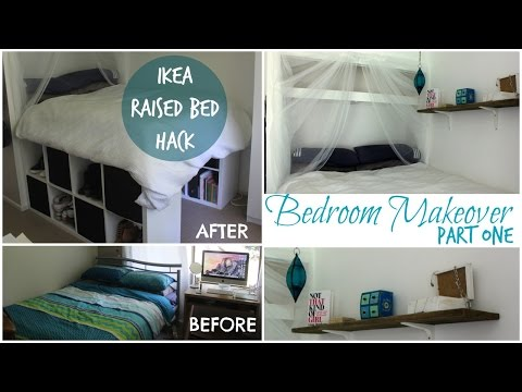 DIY IKEA PLATFORM BED made from Kallax/Expedit bookcase!  | Chelsea Mason