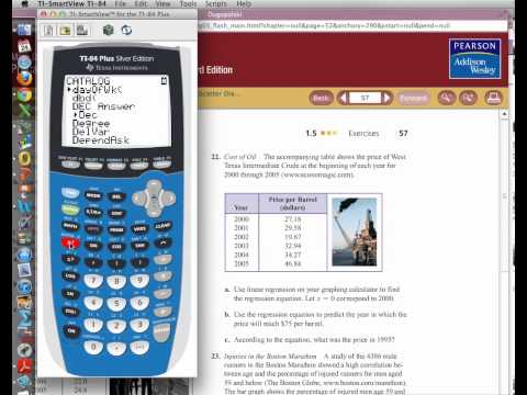Linear Regression and Forecasting with TI-84