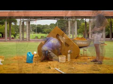Turning sand into a sculpture | Curtin's 50 Years of Innovation Timelapse