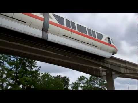 Monorail - Epcot Parking Lot - Walt Disney World 2011 HD