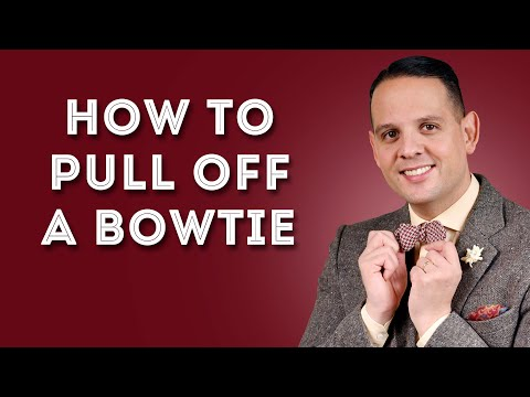 How To Pull Off A Bow Tie