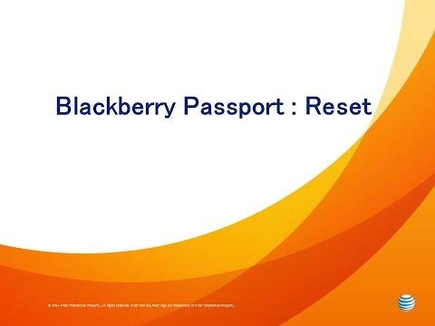 Blackberry Passport : Reset