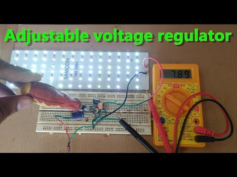 simple 5v to 32v DC adjustable voltage regulator make using 5v(LM7805) regulator