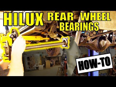 HOW TO REPLACE REAR WHEEL BEARINGS - HILUX SURF & MOST LIVE AXLE