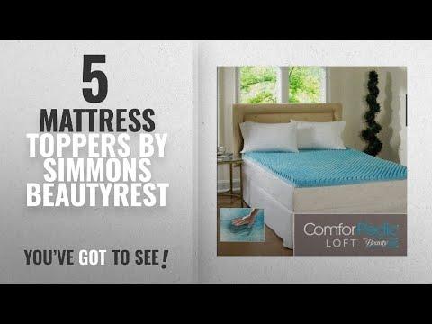Top 10 Simmons Beautyrest Mattress Toppers [2018]: Beautyrest 3-inch Sculpted Gel Memory Foam