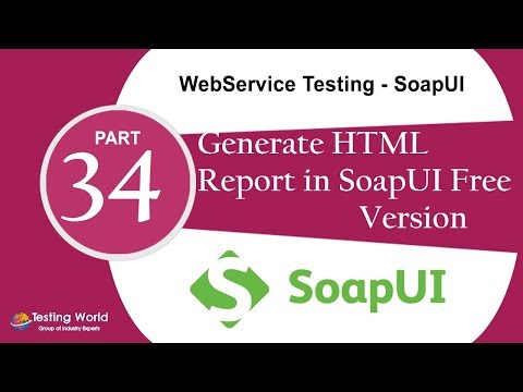 WebService Testing using SoapUI: Tutorial-26 : SoapUI with ANT | HTML report in Soapui free