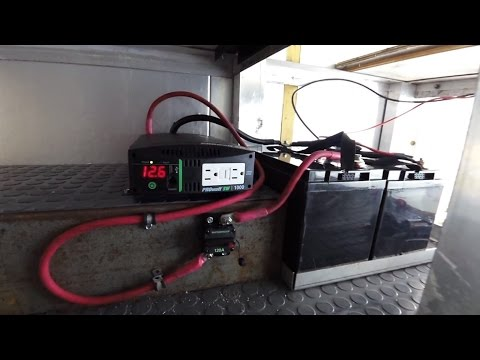 Box Truck Camper Inverter and RV Battery Install Electrical 35