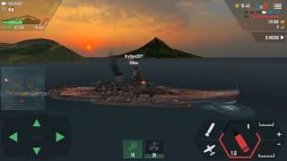 battle of warships YAMATO ×2 & BISMARCK vs Aircraft Carrier ×2