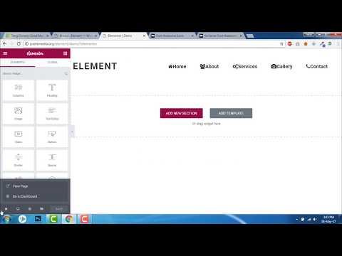 How to insert icons in menus -  Elementor , Element Theme, Wordpress