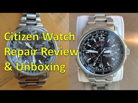 Watch Repair: Review & Unboxing for Citizen Eco-Drive