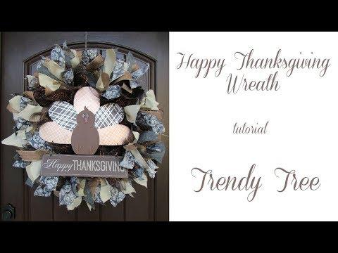 2017 Happy Thanksgiving Wreath Tutorial