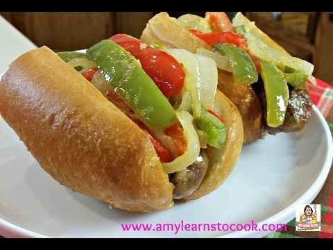 Amy's Italian Sausage Sandwich with Peppers & Onions