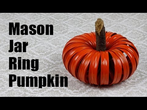 Mason Jar Ring Pumpkin