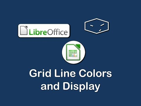 libreoffice calc edit grid line colors and display