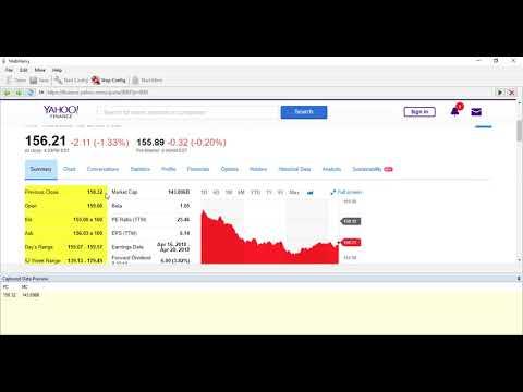 How to perform Keyword scraping in Yahoo Finance | Webharvy