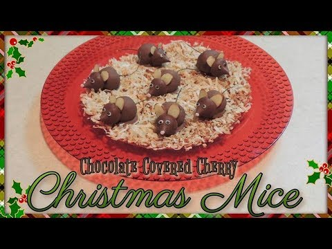 Chocolate Covered Cherry Christmas Mice