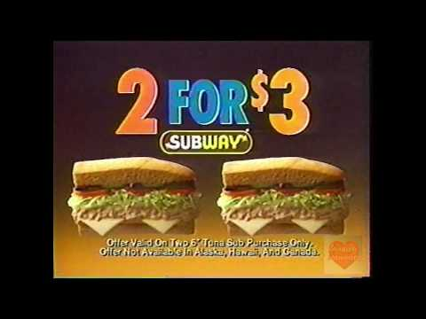Subway | Television Commercial | 1996 | 2 For $3