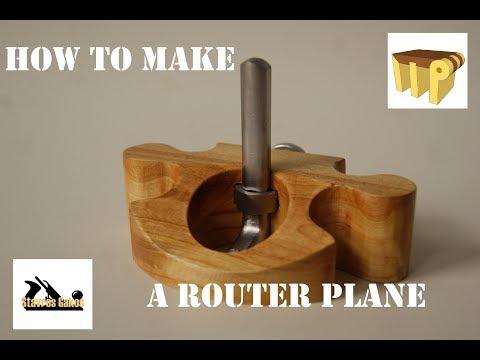010 How to make a router plane. #TOOLMake 17. Jak zrobić strug ręczny wyżłabiak