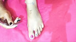 Simple Mehndi Design Using 'J'