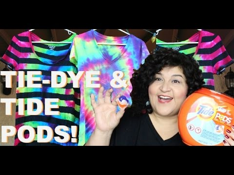 Tide Pods + Keeping Tie-Dye Colors Bright