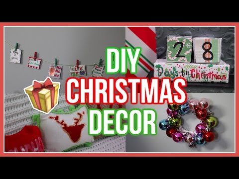 DIY CHRISTMAS ROOM DECOR | Diy American Girl Doll Christmas Room Decor