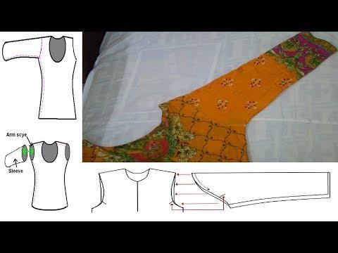 How To Attach Sleeves To a Dress|Bazo lagane ka tarika|kameez(Shirt) ke Saht Bazo Attach Karna|Part5