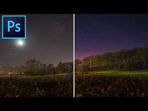 How to make STARS and NIGHTSCAPES look AMAZING in ADOBE PHOTOSHOP!!