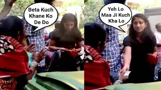 Radhika Merchant Sweet Gesture Towards A Poor Lady Asking For Food