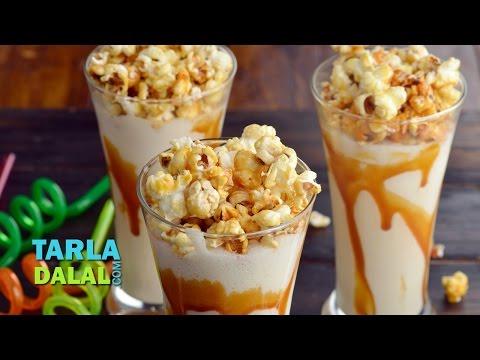 Caramel Popcorn Milkshake by Tarla Dalal